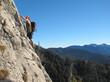 Klettern an steilem Fels