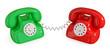 Pair of retro telephones.