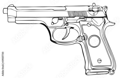 大型自動拳銃002