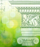 Green Blueprint - ionic architectural order