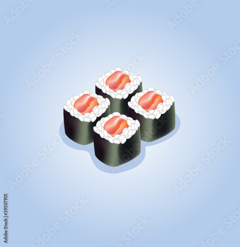 Vector illustration of sushi