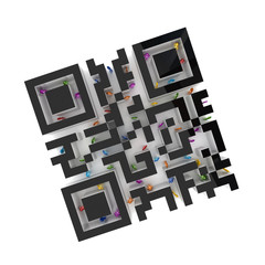 Labyrinth shape of QR code.