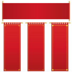 red and gold banners