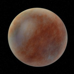 3d render of mars planet