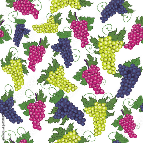 seamless pattern of grapes