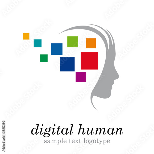 Logo digital generation # Vector
