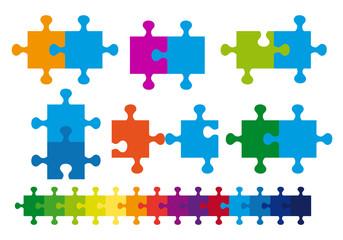 jigsaw puzzle, vector