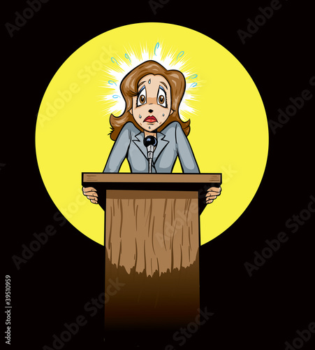 Scared public speaker/politician