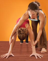 Woman Practicising Yoga