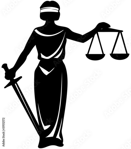 symbol  justice statue with sword - 39512172