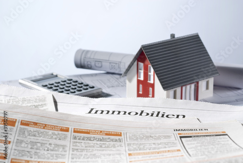 Leinwanddruck Bild Immobilienangebot