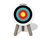 Success target board on the white background