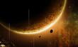 Fototapete Sonne - Stern - Licht / Schatten