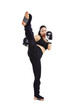 Frau, Kickboxen 1