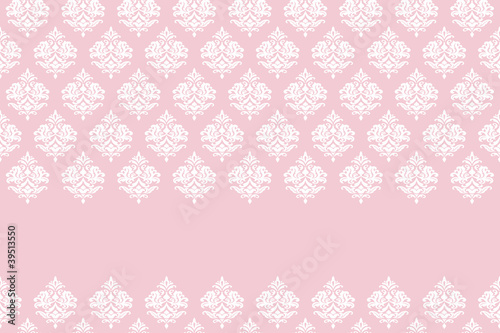 Pink card template with pattern