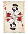 Vintage king of diamonds, playing card