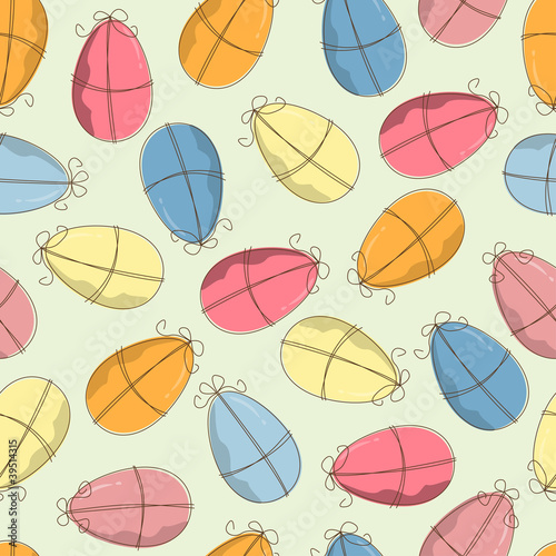 Easter pattern seamless with eggs