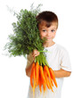 Boy with carrots