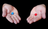 Red Pill Blue Pill Concept