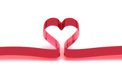 Herzförmiges Band