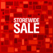 Store wide sale, bright background with shopping bags
