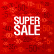 Super sale background with percent discount pattern