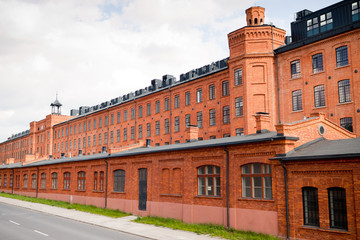 old factory in Lodz Poland