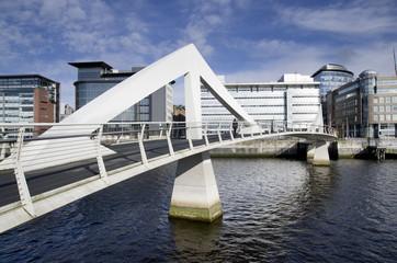 Modern bridge in Glasgow