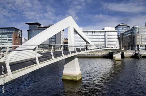 Modern bridge in Glasgow