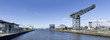 Постер, плакат: Panorama of River Clyde in Glasgow