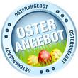 Button Osterangebot Ostereier blau
