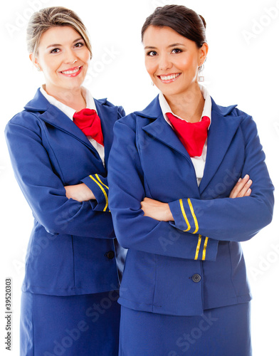 Beautiful flight attendants