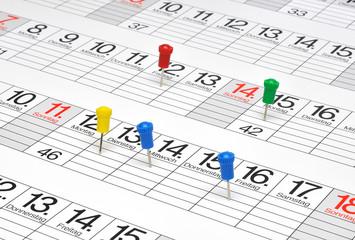 Kalender mit Pins  #120304-002