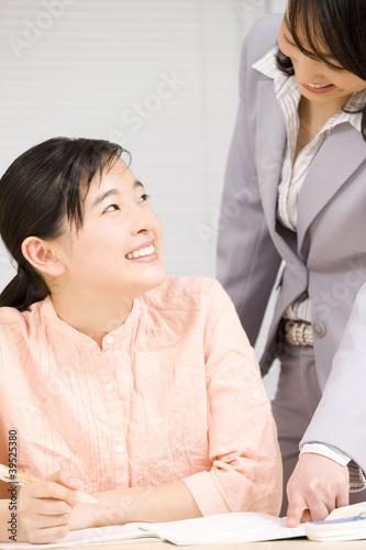 塾講師に教わる女子中学生