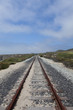 sand on railroad tracks along california coast
