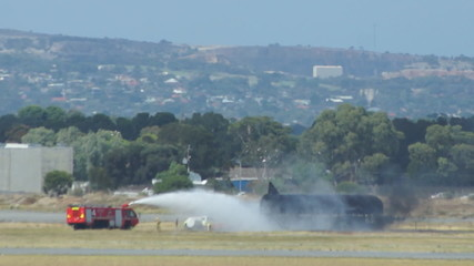 Fire control in Adelaide airport