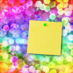 Sticky note on magical light.