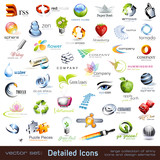 Fototapety collection of detailed vector icons and design elements