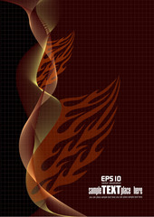 Fire flame wave background. Eps 10 vector background