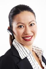 Geschäftsfrau, Business, Headset 2