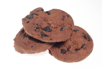 Coockies on a white background
