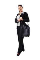 Geschäftsfrau, Business, unterwegs 2