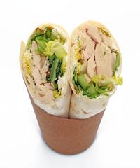 Wrap poulet salade