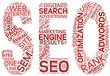 Search engine optimization SEO concept in tag cloud