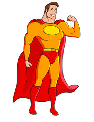 Superhero cartoon character