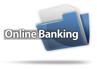 """3D Style Folder Icon """"Online Banking"""""""