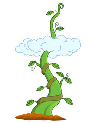 Vector Illustration Of Beanstalk