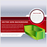 Vector Abstract Background With Sofa