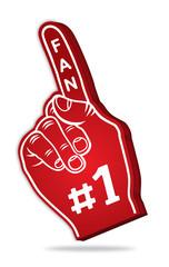 3d foam finger - fan finger