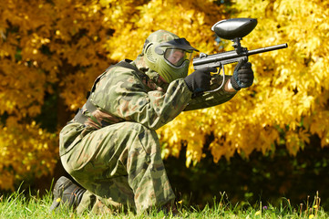paintball player